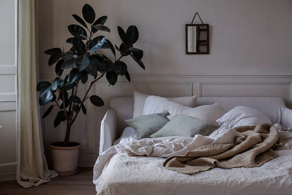 Belgian linen in natural colours
