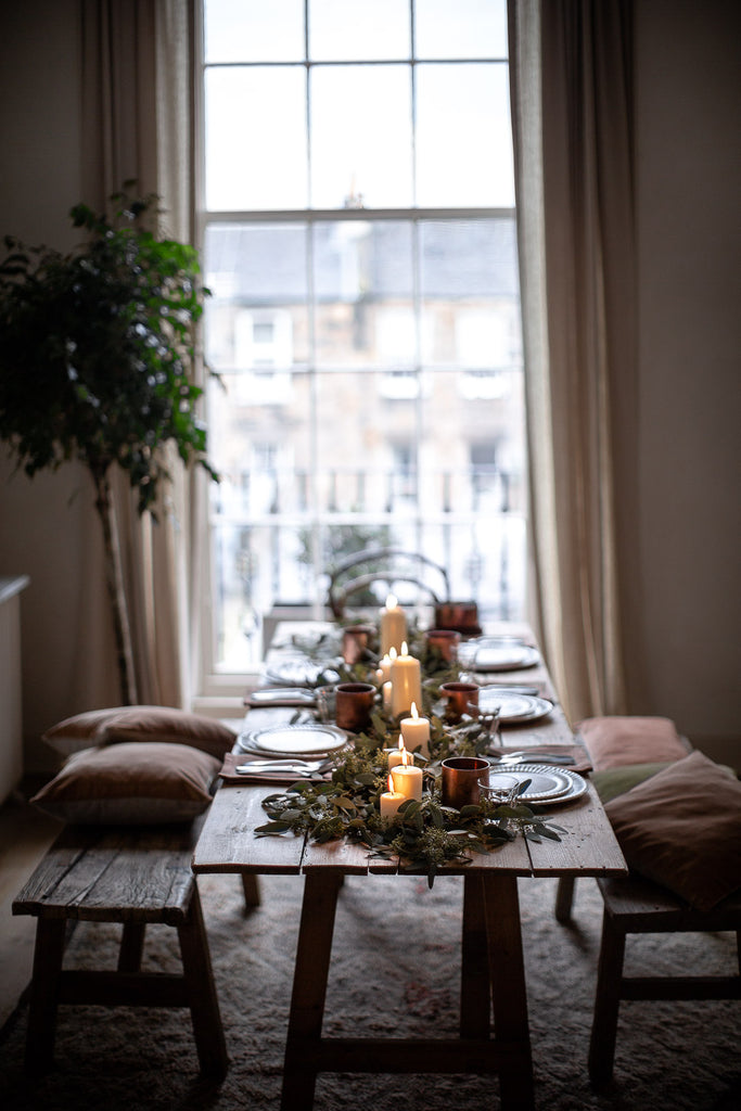 simple natural festive table decor
