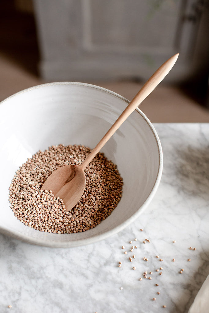 delicate handmade wooden cooking spoon