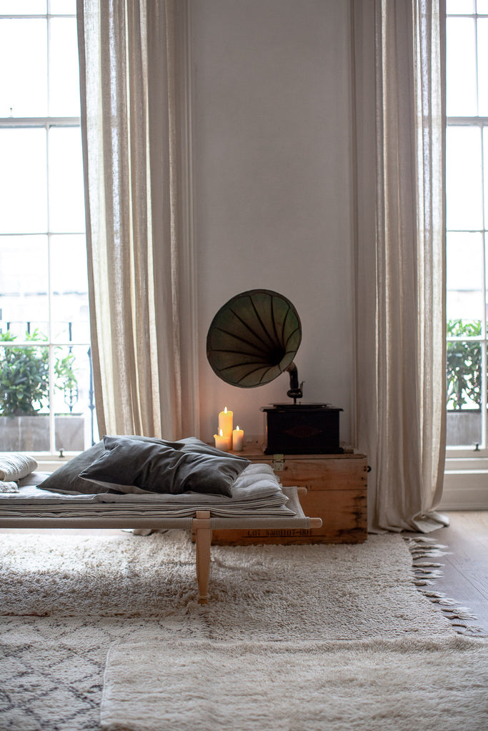 natural home decor in muted colours