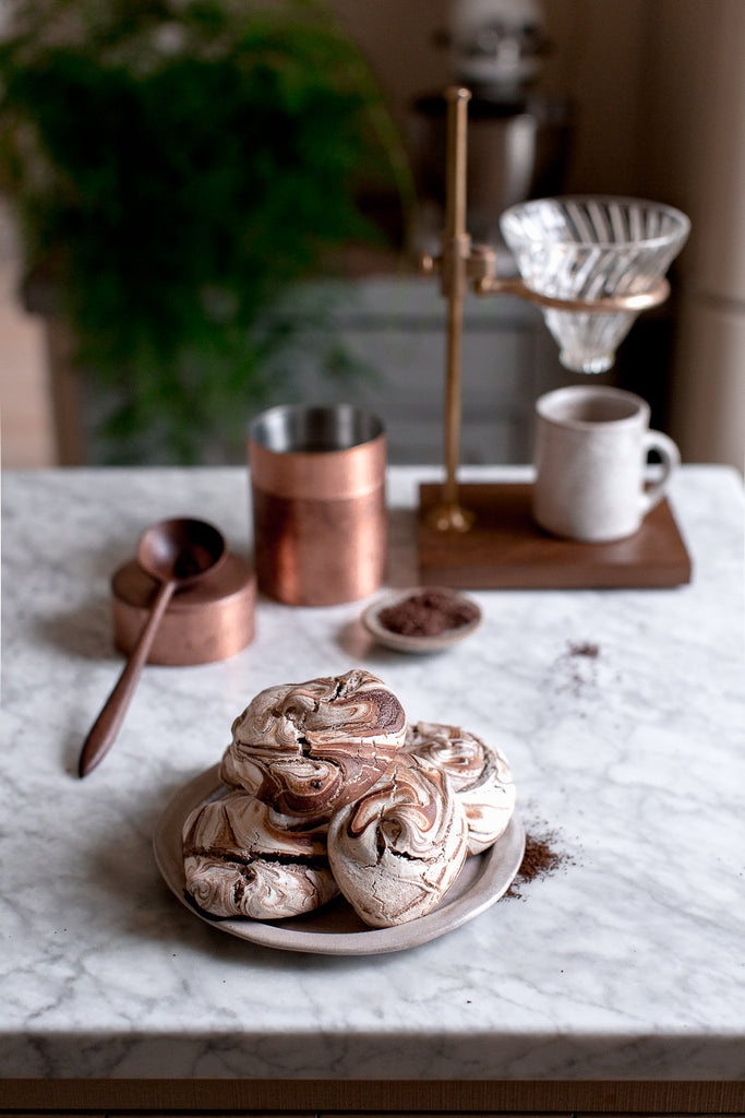 handmade brass and copper coffee utensils