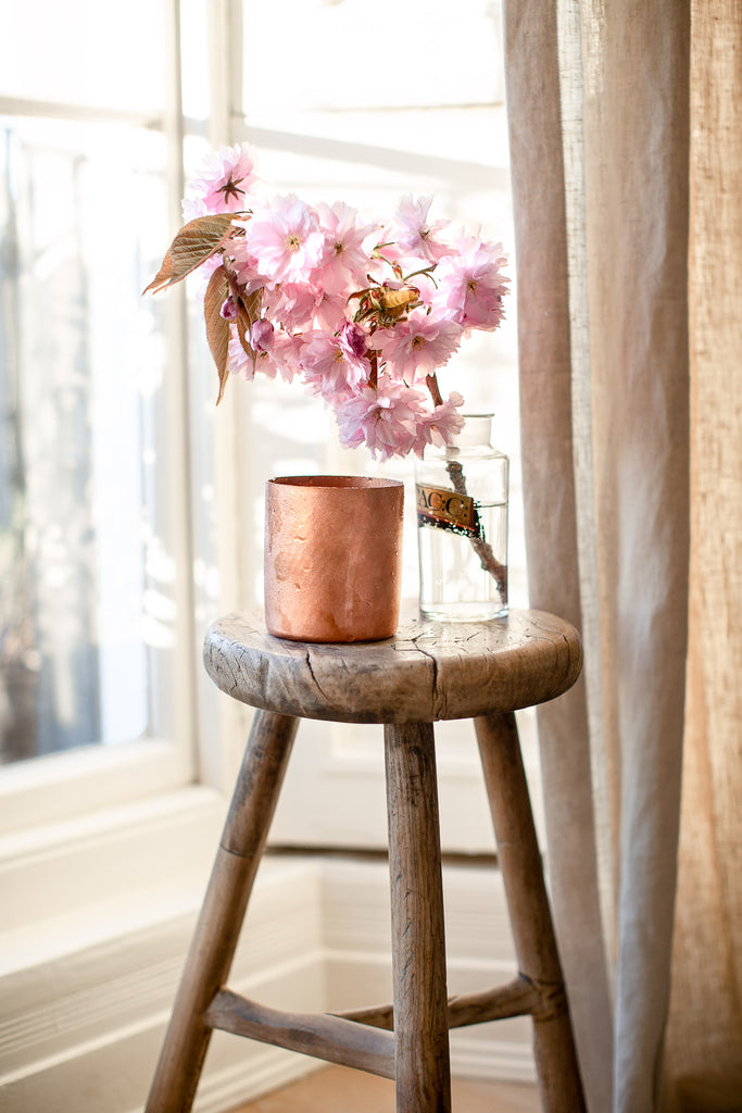 natural home decor with copper