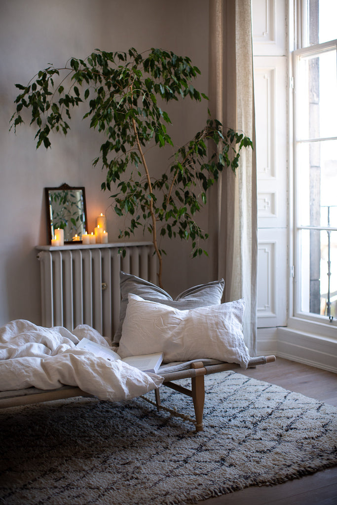 daybed by a big window