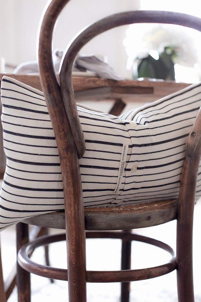 stripe cushion covers for dining room