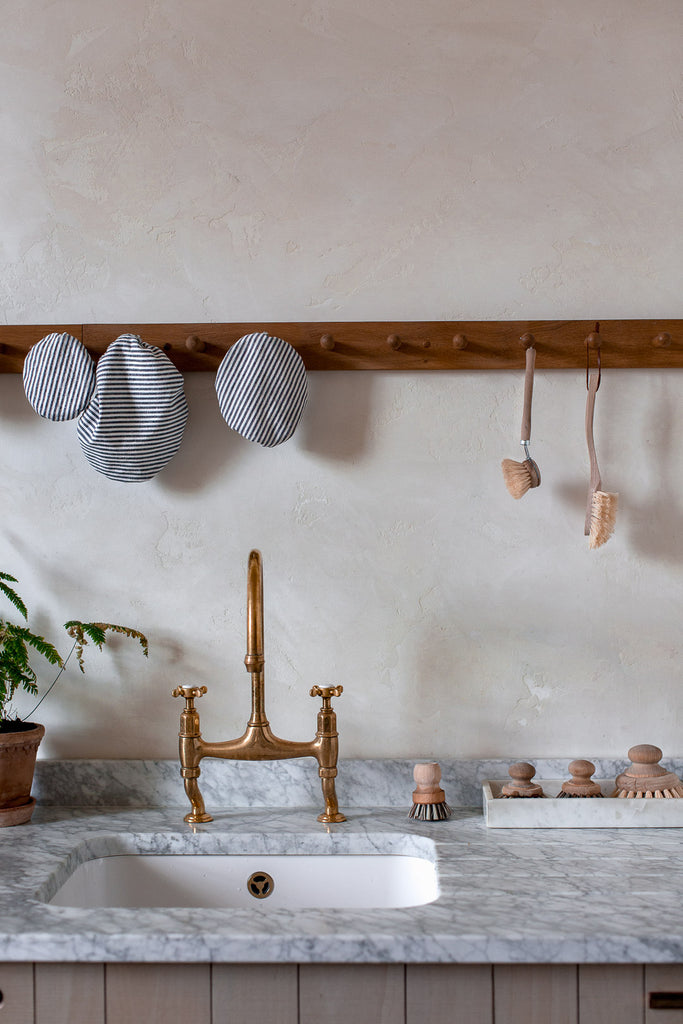 kitchen details for a natural home
