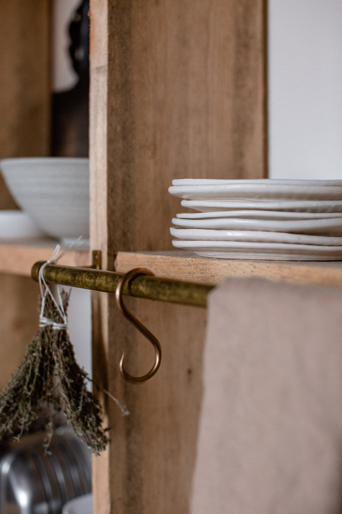 handmade ceramic plates fro a rustic kitchen