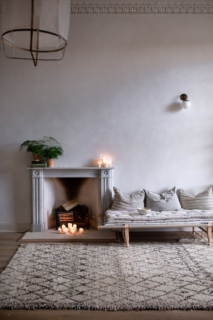 cosy relaxing home decor by the fire