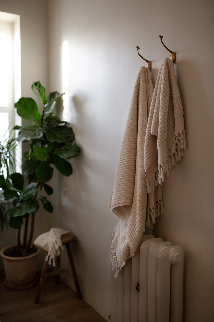 handwoven organic cotton terry towels