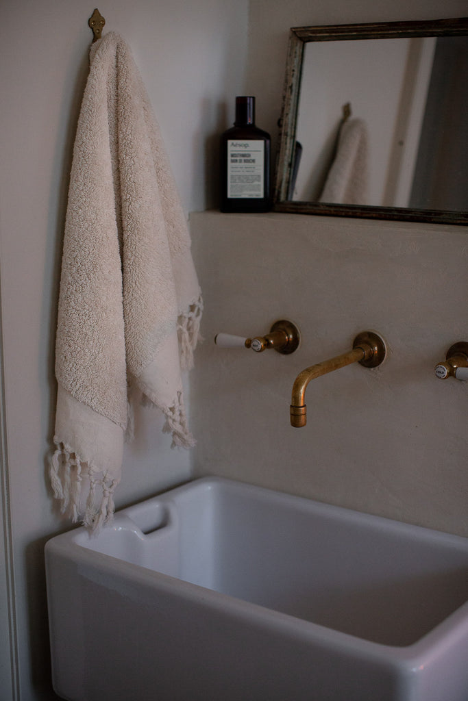 handwoven fluffy organic cotton towels