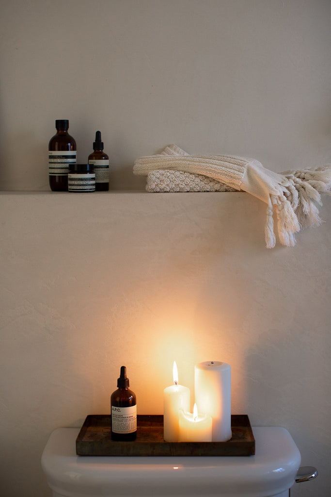 organic cotton terry towels with tassels
