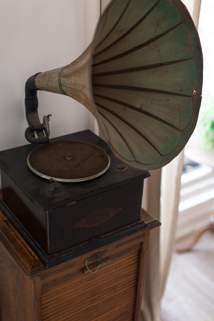 vintage gramophone record player