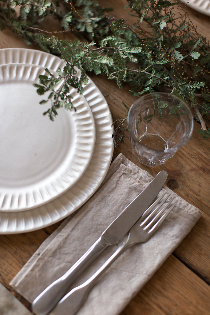 simple organic table decor