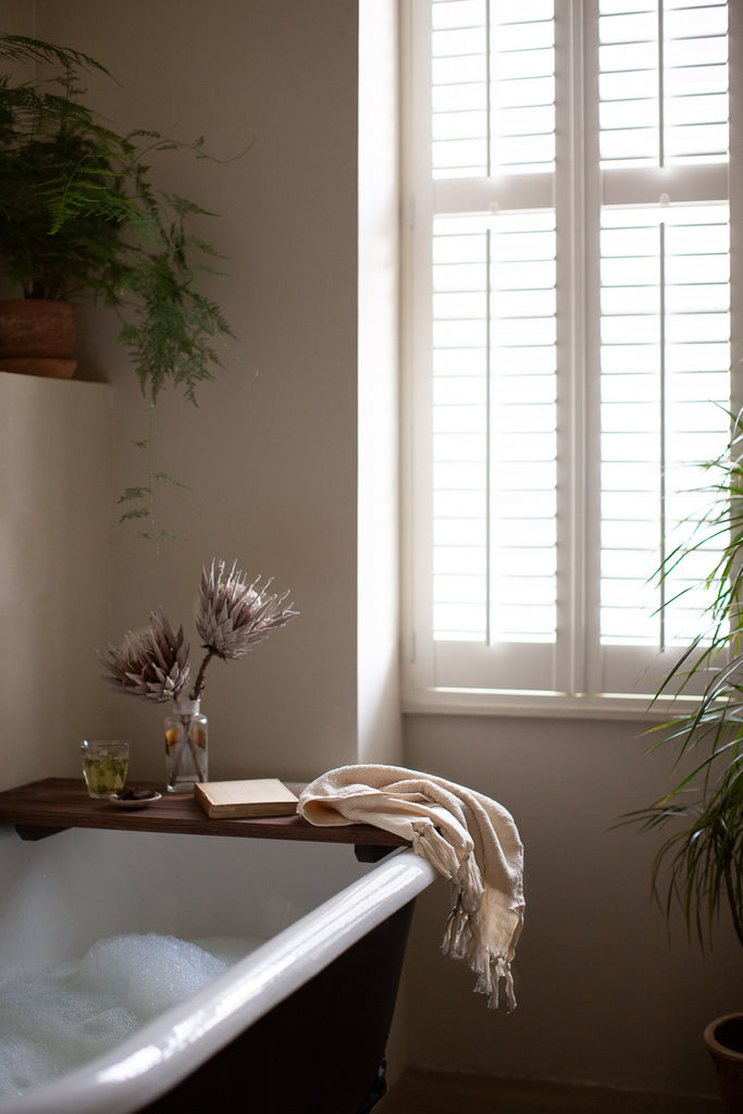 natural bathroom with soft light