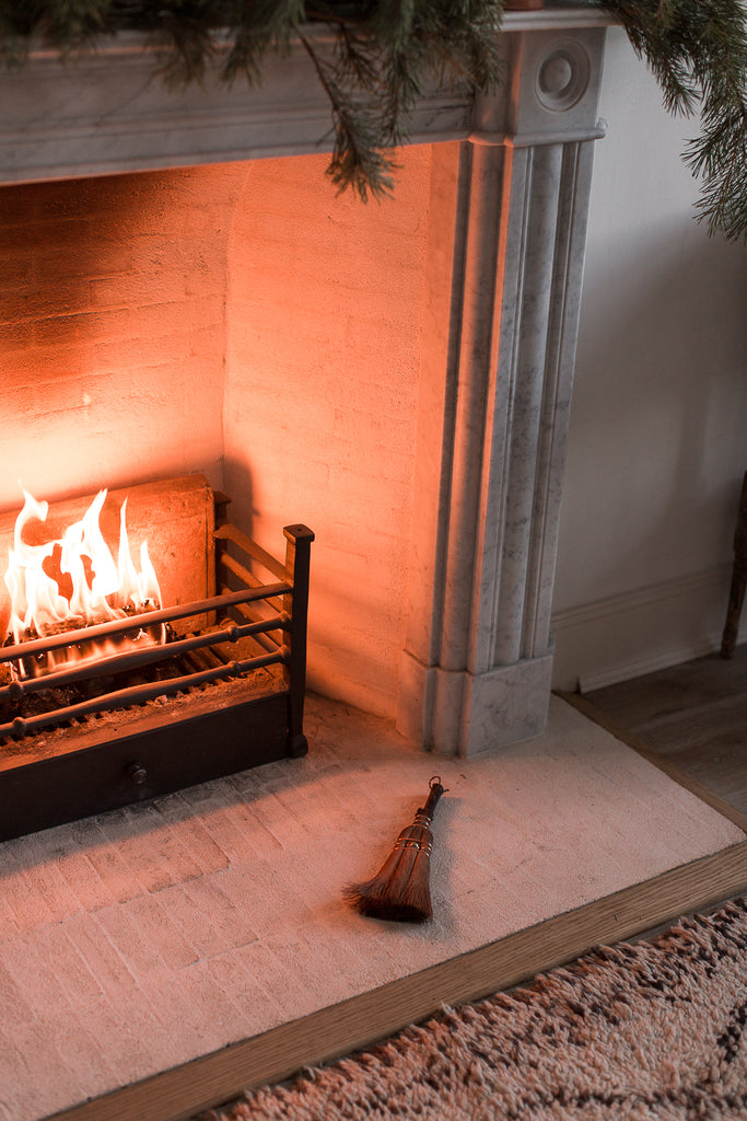 fireplace sweeping brush made from natural materials