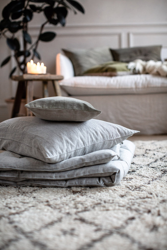 cosy soft floor cushions with natural no plastic filler