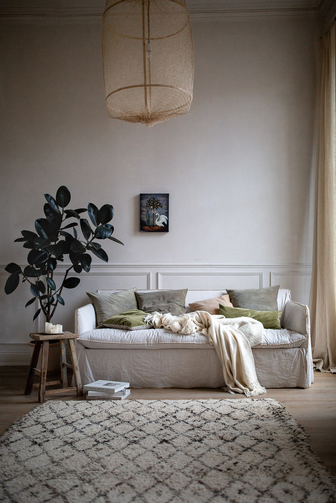 cosy comforting natural interior decor in neutral colours