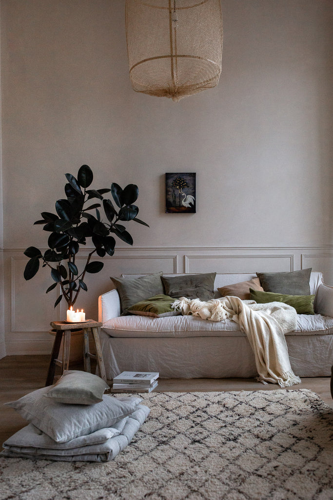 cosy natural living room in neutral colours