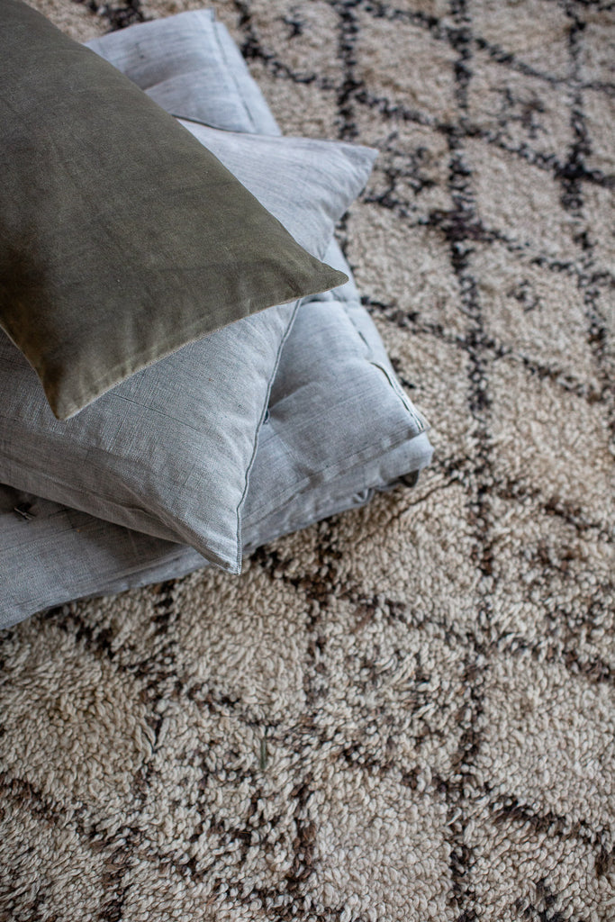 cosy floor cushions filled with sustainable natural fibre