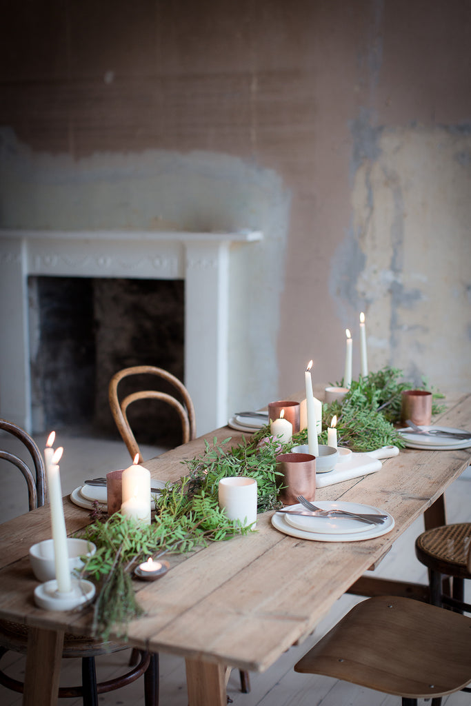 INGREDIENTS LDN bare walls and dining table
