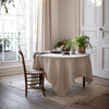 BELGIAN LINEN TABLECLOTH IN ECRU