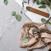 BELGIAN LINEN NAPKIN SET IN RAW UMBER