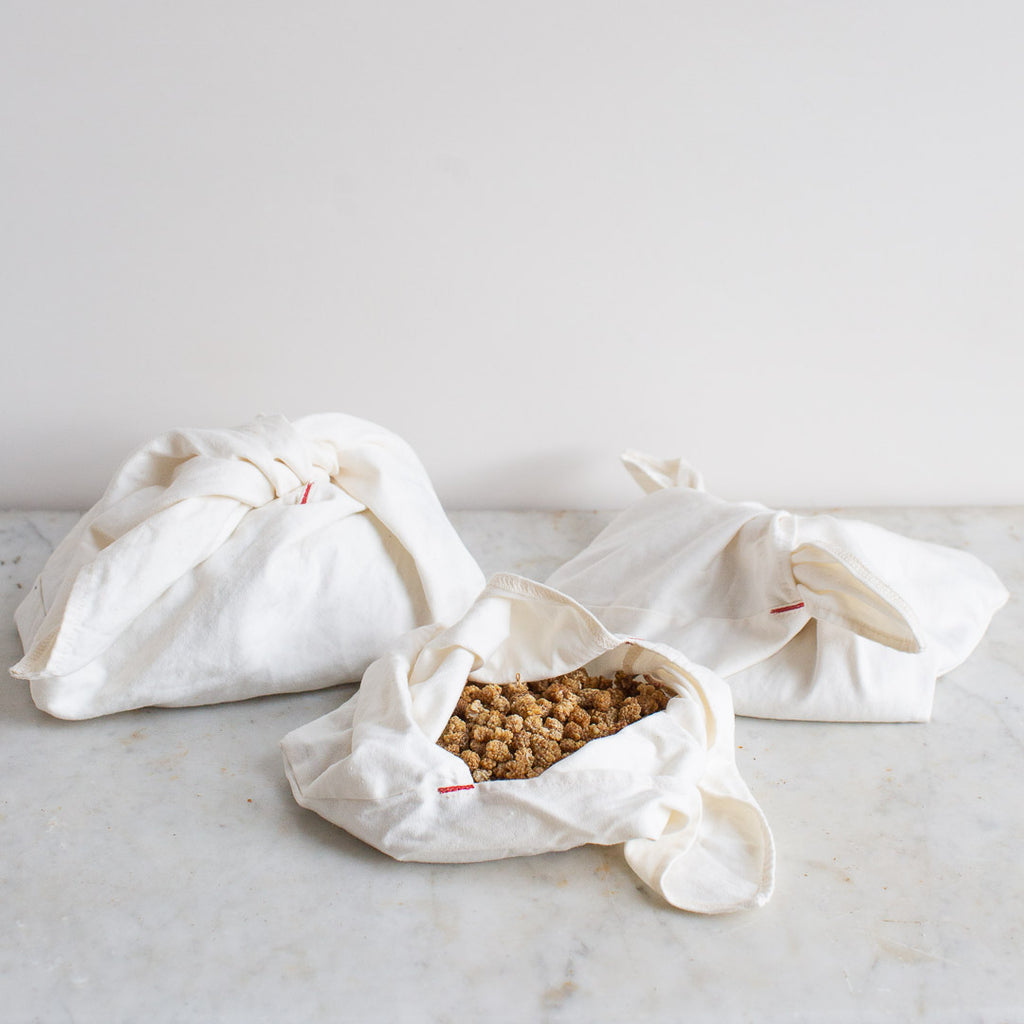 BENTO BAG SET IN ORGANIC COTTON