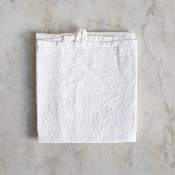 EX-PROP HANDMADE LINEN KITCHEN TOWEL IN OFF-WHITE