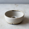 CRADLE CANDLE BOWL IN MATTE GREY