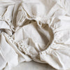 EX PROP - BELGIAN LINEN FITTED SHEETS IN NATURAL WHITE