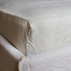 BELGIAN LINEN FITTED SHEETS IN NATURAL WHITE