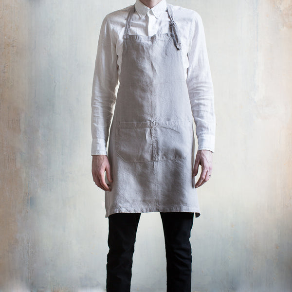 INGREDIENTS LDN BOTANICAL DYED LINEN UTILITY APRON