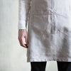 plant dyed grey linen apron uk