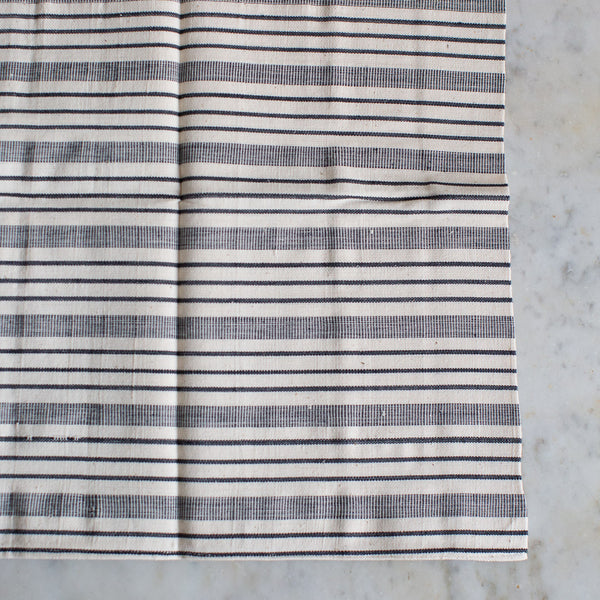 DISCONTINUED HANDWOVEN COTTON CUSHION COVER IN TRADITIONAL STRIPES 40cm x 60cm