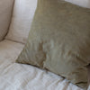 HAND DYED VELVET JEWEL CUSHION COVERS IN WASHED FABRIC