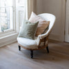 kirsten hecktermann velvet cushion covers in soft muted colours