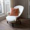 Kirsten Hecktermann velvet cushion covers in copper