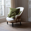 Hand dyed luxury velvet cushion covers in green