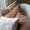 Kirsten Hecktermann velvet and vintage linen cushion covers