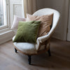 handmade velvet cushion covers in pastel colours