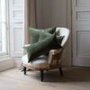 Kirsten Hecktermann dark green velvet cushion covers