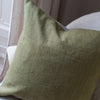 HAND DYED VINTAGE LINEN CUSHION COVERS IN LINDEN