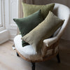 Kirsten Hecktermann green velvet cushion covers