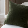 Kirsten Hecktermann dark green velvet cushion covers uk