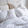 BELGIAN LINEN PILLOWSLIP SET IN PURE WHITE