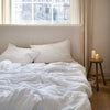 BELGIAN LINEN BEDDING SET IN PURE WHITE