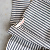 stripe organic cotton and hemp napkin set
