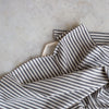grey and white stripe napkin set