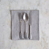 grey and off white stripe napkin set