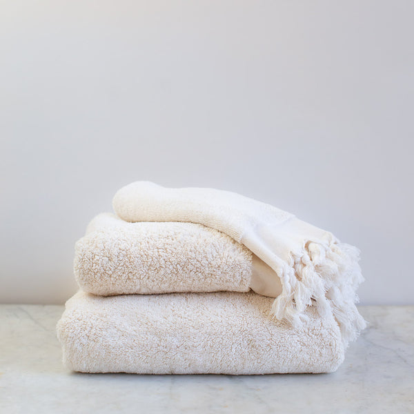 handwoven unbleached organic cotton towel