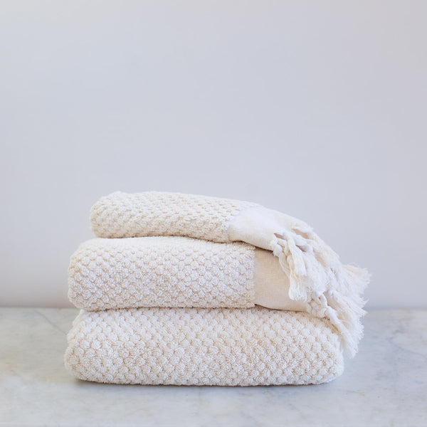 handwoven  GOTS organic cotton terry towel